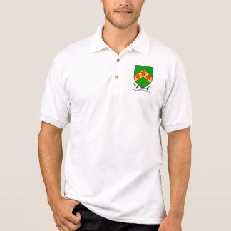 Curley surname coat of arms polo shirt