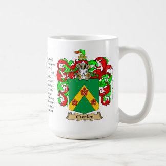 Curley, the Origin, the Meaning and the Crest Basic White Mug