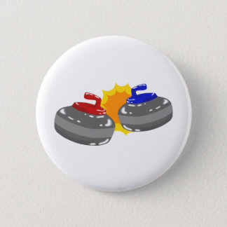 Curling 6 Cm Round Badge
