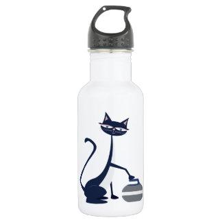 Curling cat 532 ml water bottle