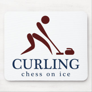 Curling: Chess on Ice Mouse Mat