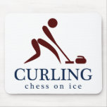 Curling: Chess on Ice Mousepad