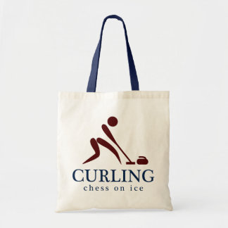 Curling: Chess on Ice Tote Bag
