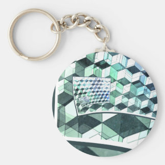 Curling Colorful Cubes Key Chain