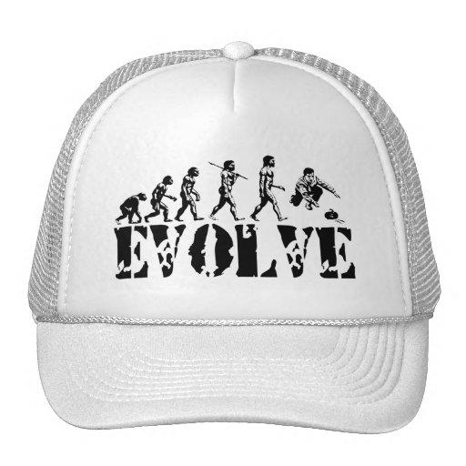 Curling Curler Winter Sport Evolution Art Hats