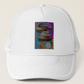 curling design trucker hat