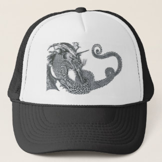 Curling Dragon Trucker Hat