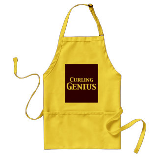 Curling Genius Gifts Standard Apron