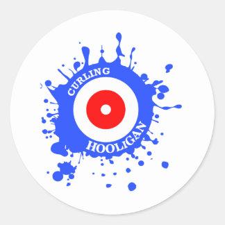 Curling Hooligan Classic Round Sticker