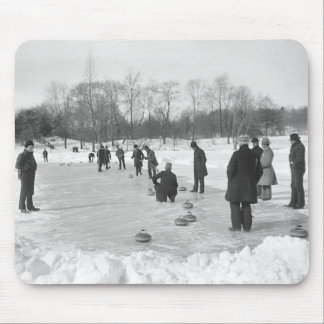 Curling in Central Park NYC Mouse Mat