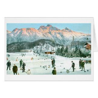 Curling in Switzerland Card