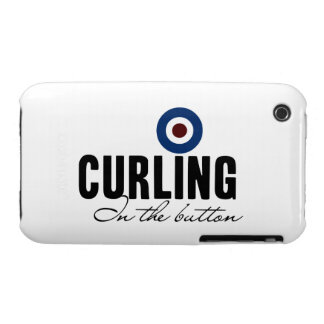 Curling In The Button Case-Mate iPhone 3 Cases