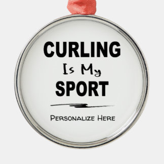 Curling is My Sport Ornament