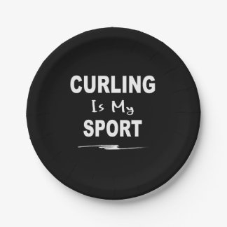 Curling is My Sport Paper Plate
