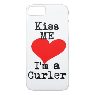 Curling Kiss me, I'm a Curler iPhone 7 Case