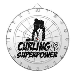 curling my superpower dartboard with darts
