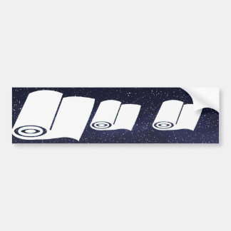 Curling Papers Minimal Bumper Sticker