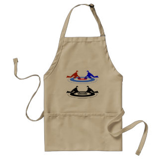 Curling Players Apron
