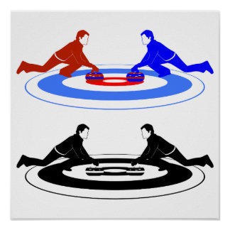 Curling Players Poster