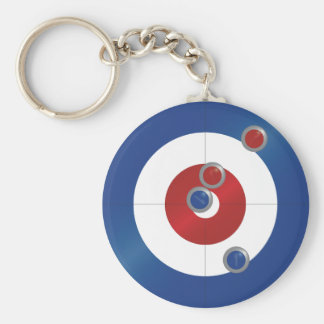 Curling rings key ring