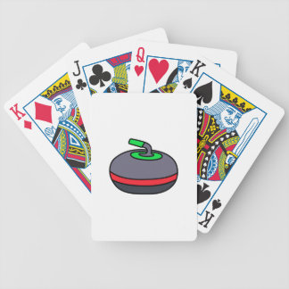 Curling Rock Bicycle Playing Cards
