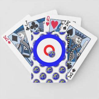 Curling rocks bicycle playing cards