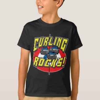 Curling Rocks Blue Stones t-shirts and Gift Ideas