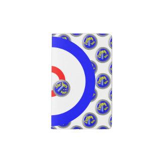 Curling rocks pocket moleskine notebook