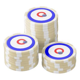 Curling rocks set of poker chips