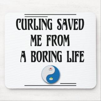 Curling Saved Me Mouse Pad