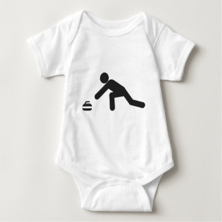 Curling slide baby bodysuit