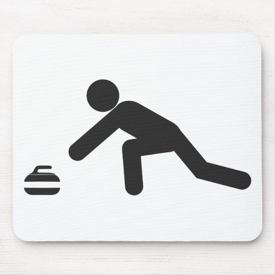 Curling slide mouse mat