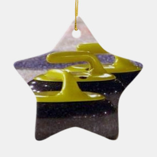 Curling stones christmas ornament