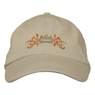 Curling Tribal Embroidered Baseball Caps