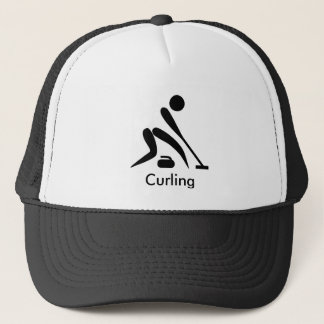 Curling Winter Sport Baseball Cap