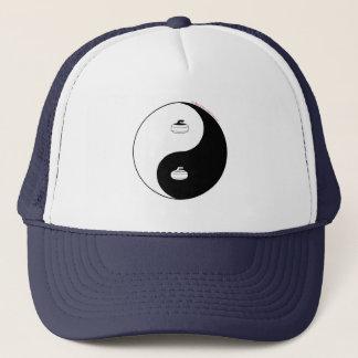 Curling Yin Yang Trucker Hat