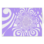 Curls and Swirls - Periwinkle Note Card