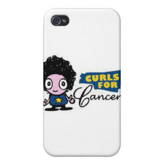 Curls for Cancer iPhone 4 cover