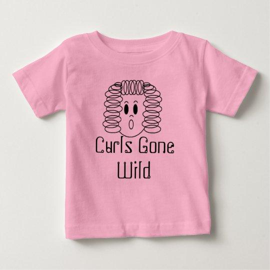 Curls Gone Wild Baby T-Shirt