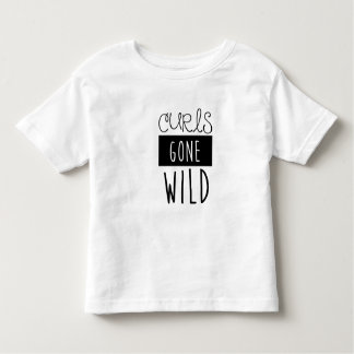 Curls Gone Wild Kids Tshirt