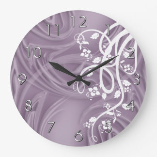 Curls Over Purple With Filigree & Floral Clocks