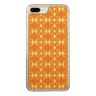 Curls Pattern Carved iPhone 7 Plus Case