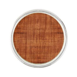 Curly Acacia Wood Grain Look Lapel Pin