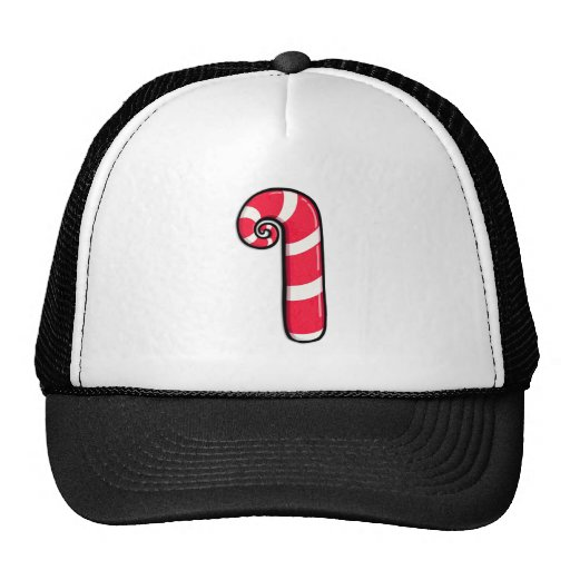Curly Candy Cane Hat