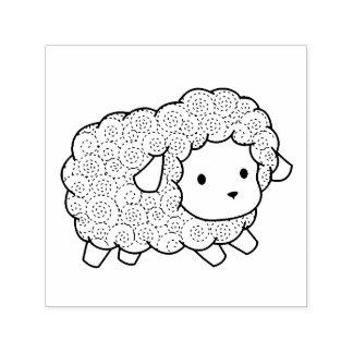 Curly Coat Little Sheep Ewe Self-inking Stamp