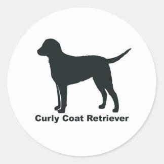 Curly Coat Retriever Round Sticker