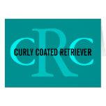 Curly Coated Retriever Breed Monogram