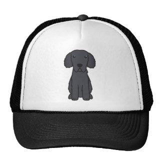 Curly Coated Retriever Dog Cartoon Trucker Hat
