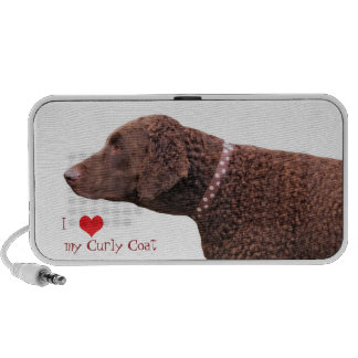 Curly-coated retriever dog doodle speakers, gift travel speakers