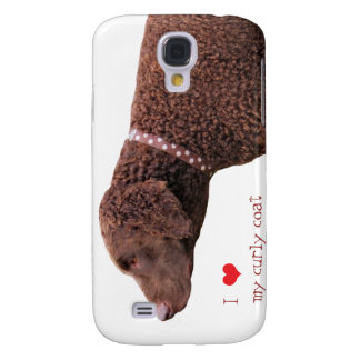 Curly-coated retriever dog iphone 3G case gift Samsung Galaxy S4 Cases